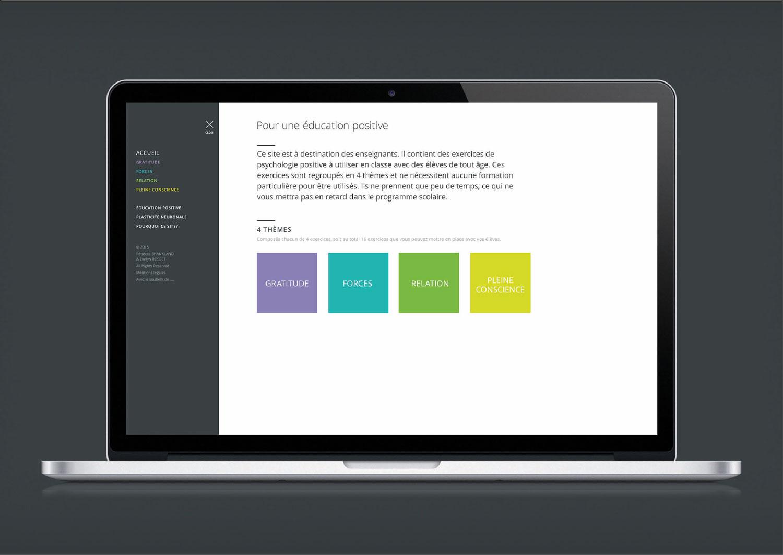 Page daccueil pour le site une education positive